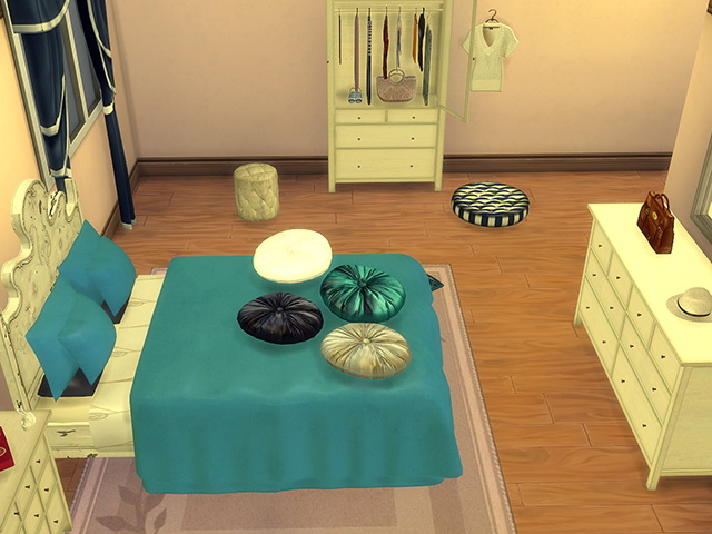 Coastal Paradise Bed & Deco by Kresten 22 at Sims Fans image 965 Sims 4 Updates