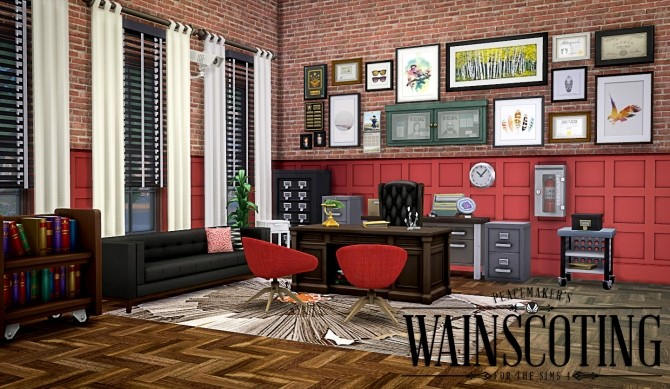 Peacemakers 3D Wainscoting at Simsational Designs image 9723 670x389 Sims 4 Updates