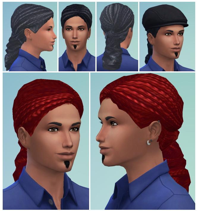 Sims 4 Dread Curls Bun male at Birksches Sims Blog