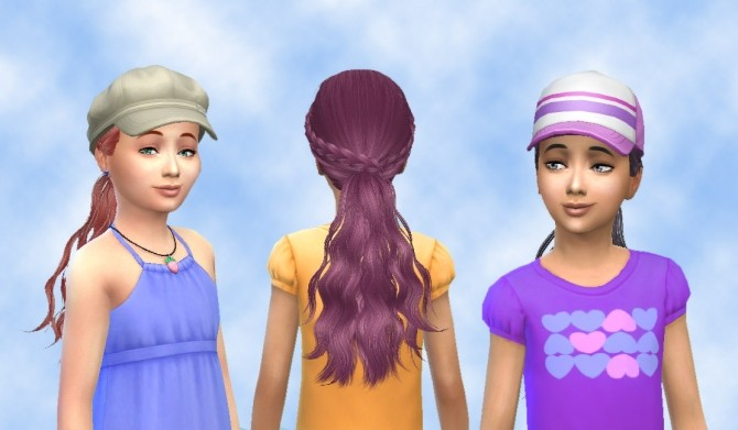 Sims 4 Tina Hair 270 Conversion by Skysims at My Stuff