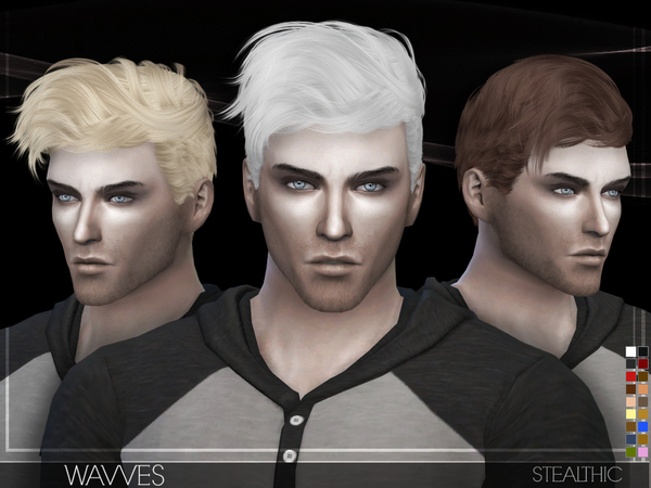 Wavves Male Hair By Stealthic At Tsr Sims 4 Updates