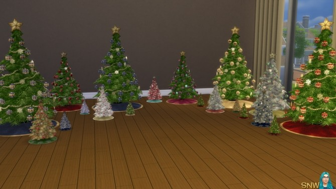 Sims 4 Christmas Trees! (3 sizes) at Sims Network – SNW