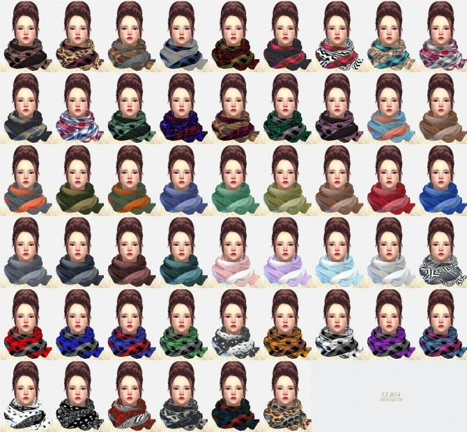Female two tone scarf at Marigold image 1004 670x620 Sims 4 Updates