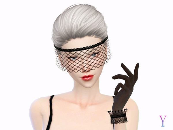 Lace veil by Elza·Scarlet at TSR image 10101 Sims 4 Updates