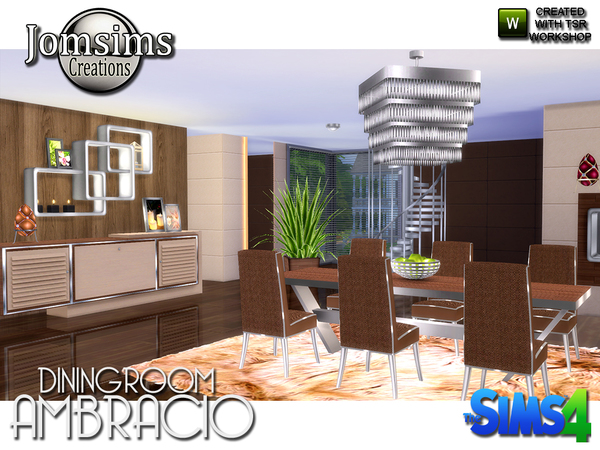Ambracio dining room by jomsims at tsr sims 4 updates for Dining room ideas sims 4