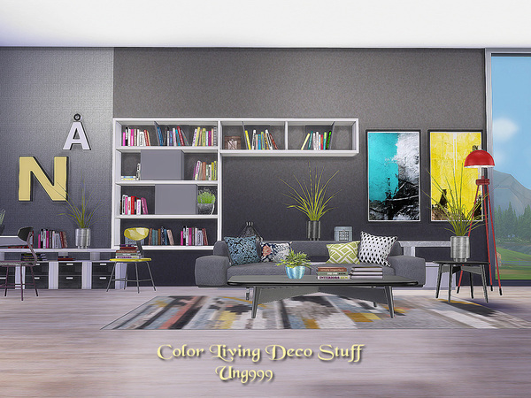 Color Living Decor Stuff by ung999 at TSR image 10108 Sims 4 Updates