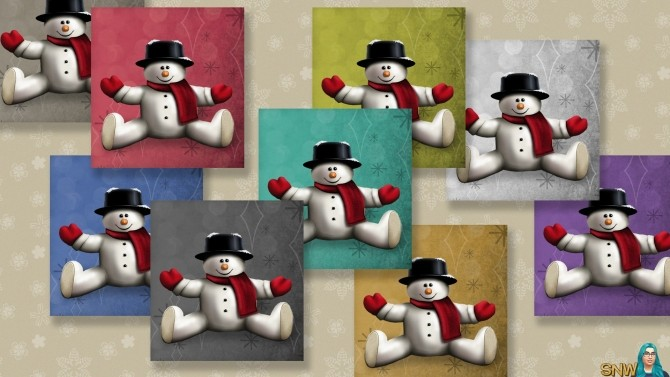 Sims 4 Large Snowman Painting #2 at Sims Network – SNW