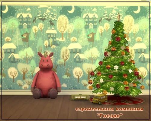 Sims 4 Christmas Wallpaper 006 at Sims by Mulena