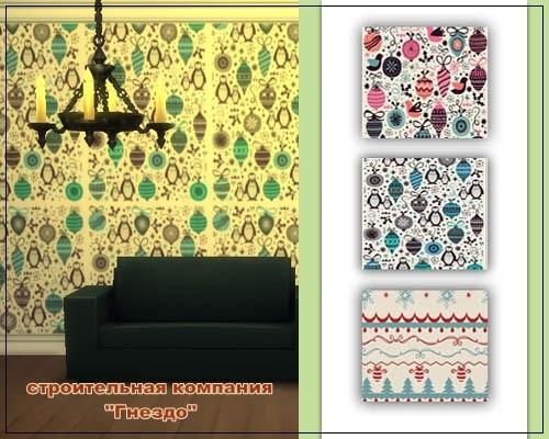 Sims 4 Christmas Wallpaper 002 at Sims by Mulena