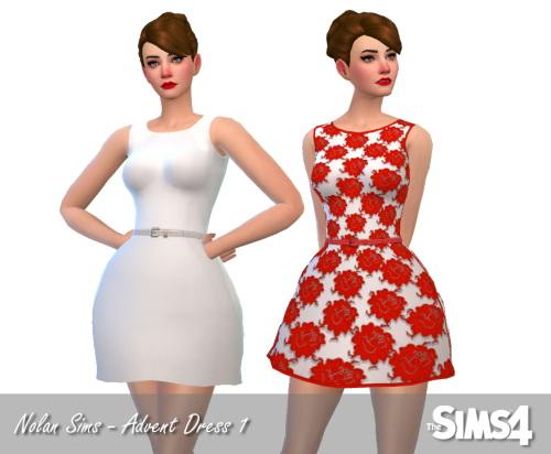 Sims 4 Sweet and romantic holiday dress at Nolan Sims