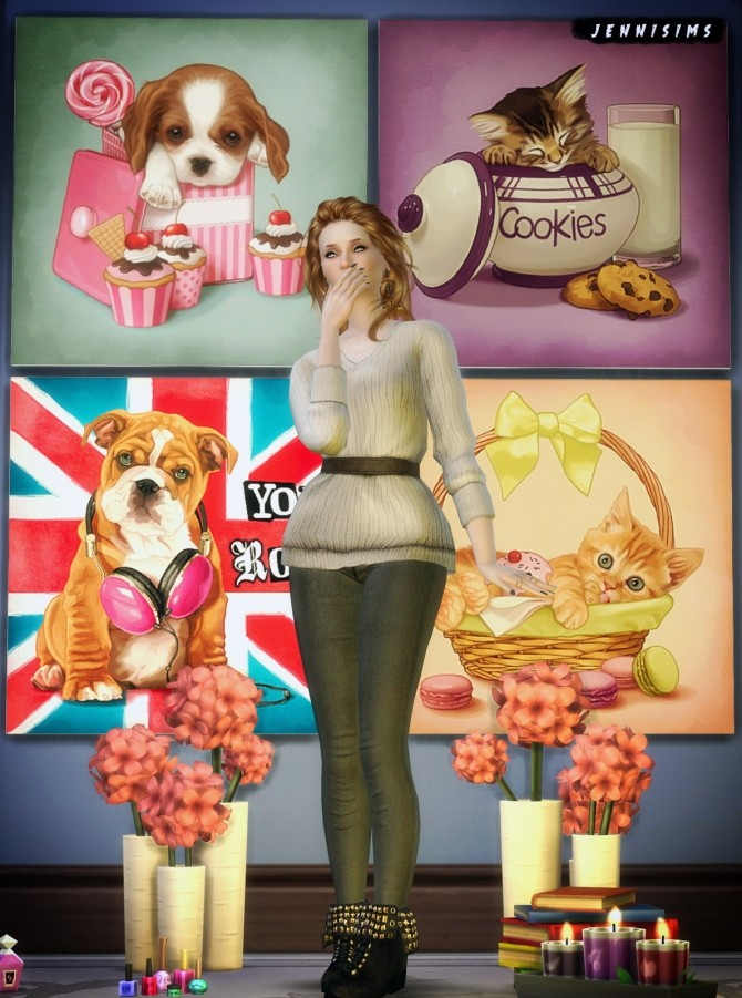 Painting Puppy Love 18 Designs At Jenni Sims 187 Sims 4