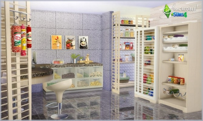 Sims 4 FORM AND FUNCTION kitchen (DONATION) at SIMcredible! Designs 4