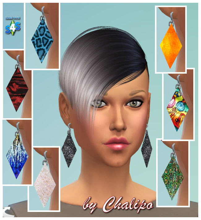 Sims 4 Earrings by Chalipo at All 4 Sims