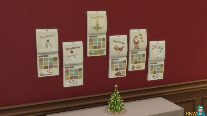 Sims 4 Christmas Calendar 2015 at Sims Network – SNW