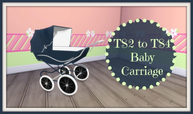 Classic Baby Carriage At Dinha Gamer 187 Sims 4 Updates