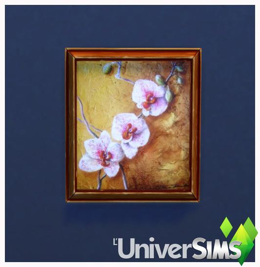 Sims 4 Orchid paintings by Bouckie at L'UniverSims