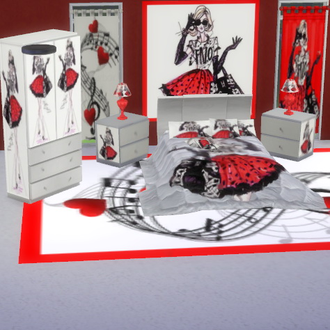 Harley quinn bedroom home design for Harley quinn bedroom designs