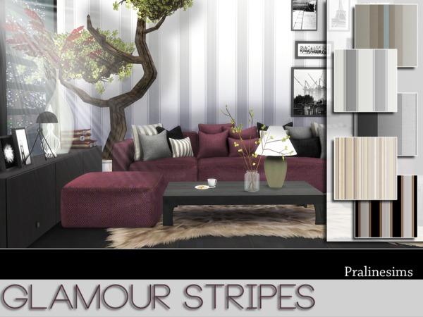 Sims 4 Glamour Stripes by Pralinesims at TSR
