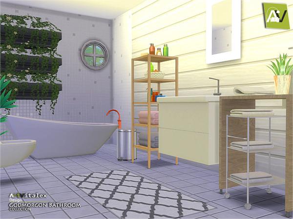 Sims 4 Godmorgon Bathroom by ArtVitalex at TSR
