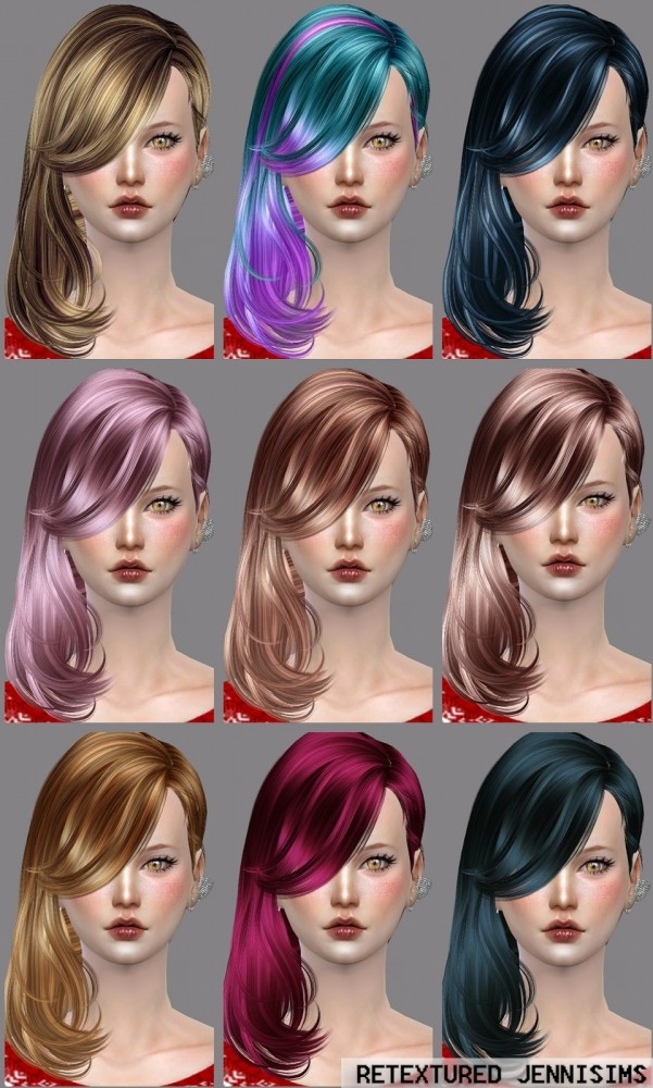Sims 4 Newsea Hell on heels Hair retextured at Jenni Sims