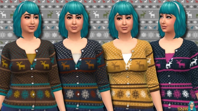 Fair Isle Christmas Cardigans for Women at Sims Network – SNW image 11418 670x377 Sims 4 Updates