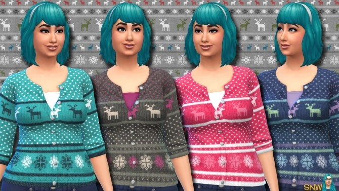 Fair Isle Christmas Cardigans for Women at Sims Network – SNW image 11517 670x377 Sims 4 Updates