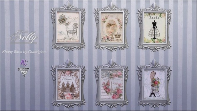 Alice, Nelly And Adelaide Shabby Paintings By Guardgian At