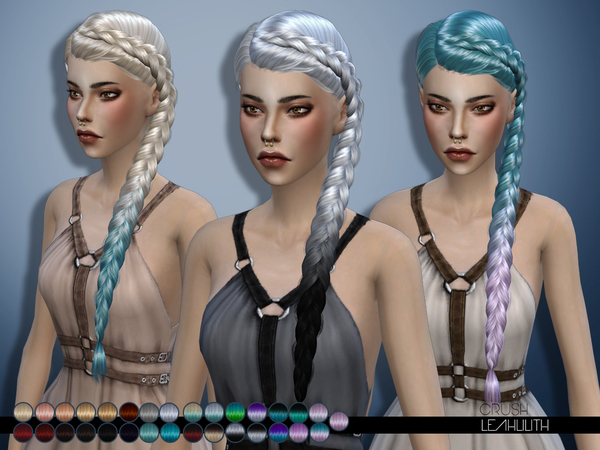 Crush hair by LeahLilith at TSR image 1170 Sims 4 Updates