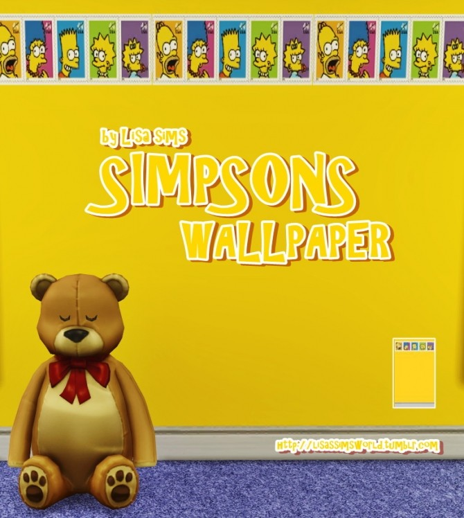 SIMPSONS WALLPAPER at Lisa Sims image 11813 670x748 Sims 4 Updates