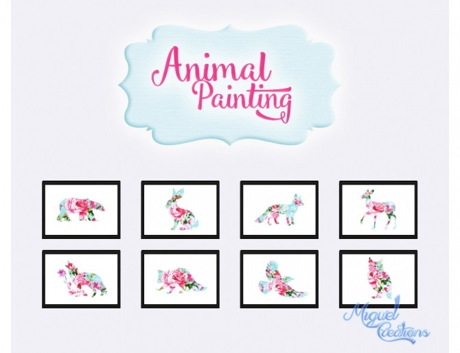 Sims 4 Animal Paintings at Victor Miguel
