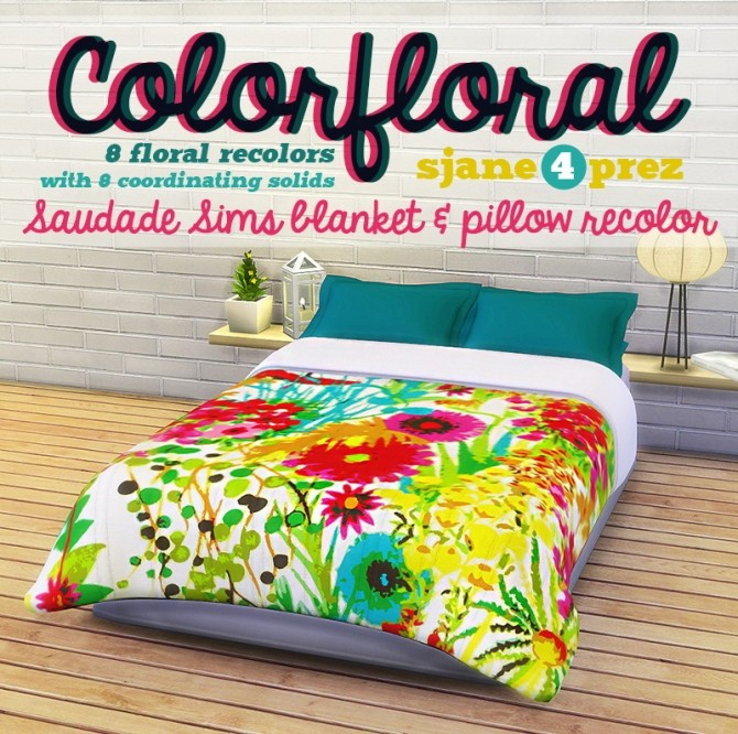 Colorfloral Blankets & Pillows at 4 Prez Sims4 image 1192 670x666 Sims 4 Updates