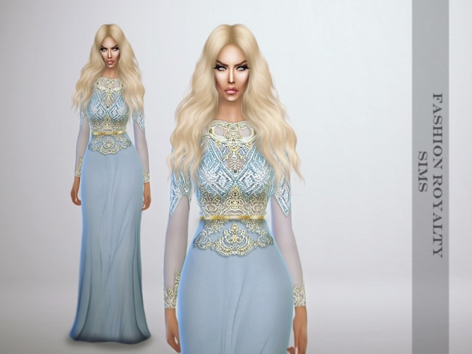 Lightblue Royalty Gown at Fashion Royalty Sims image 1203 670x503 Sims 4 Updates
