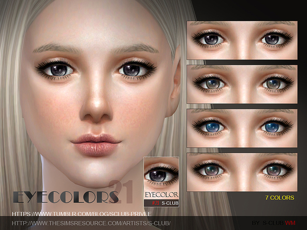 Sims 4 Eyecolor 21 by S Club WM at TSR