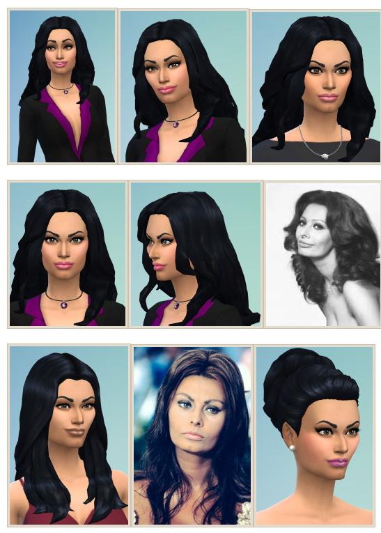 Sims 4 Sophia Loren and Loren Hair at Birksches Sims Blog