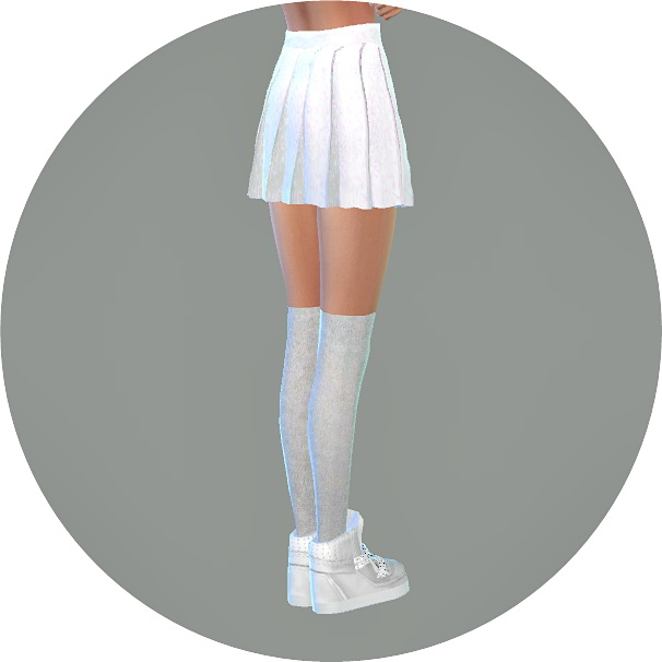 Real pleats mini skirt V1 single color at TSR image 12120 Sims 4 Updates