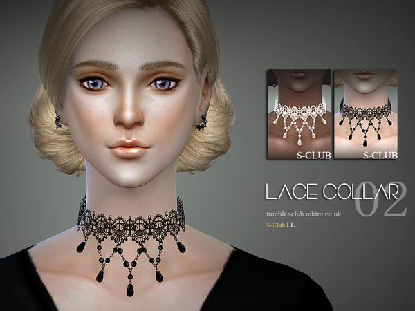 Sims 4 Lace collar 04 by S Club LL at TSR