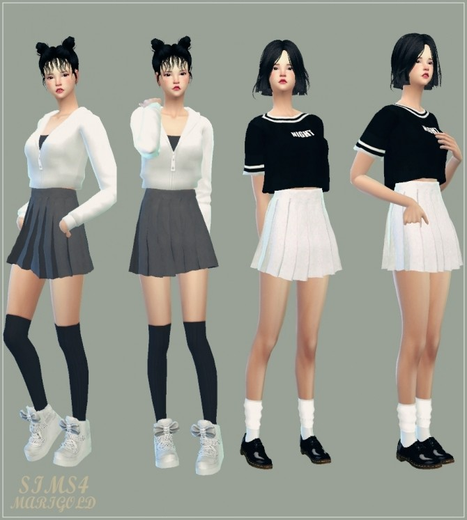 Real Pleats Mini Skirt V1 Single Color At Tsr 187 Sims 4 Updates