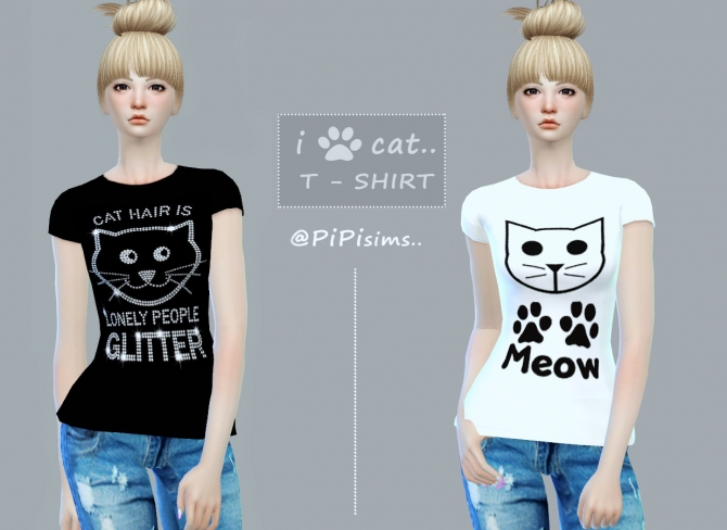 Love Cats T Shirts At Pipi Sims 4 Sims 4 Updates