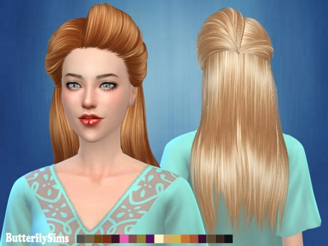 Hairstyles Updates: B-fly Hair 179 AF No Hat (PAY) At Butterfly Sims » Sims 4
