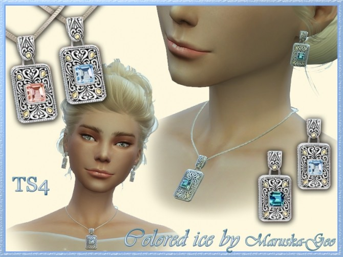 Colored ice necklaces and earrings at Maruska Geo image 12610 670x503 Sims 4 Updates