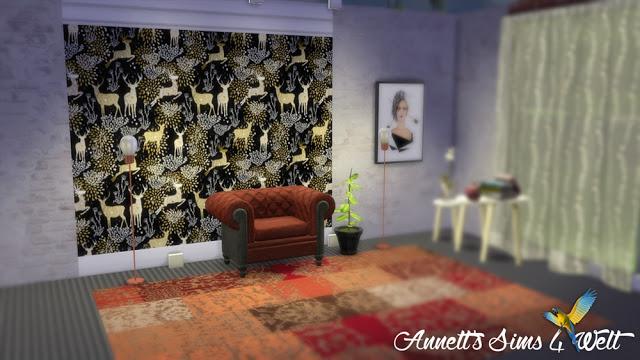 Sims 4 Deer & Moose Wallpaper at Annett's Sims 4 Welt