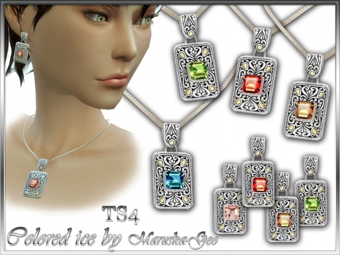 Colored ice necklaces and earrings at Maruska Geo image 12710 670x503 Sims 4 Updates