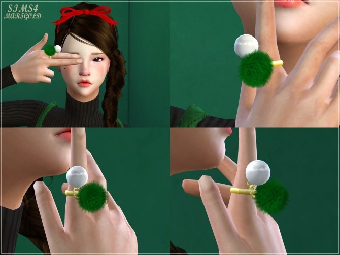 Pearl pompom ring at Marigold image 12712 670x503 Sims 4 Updates