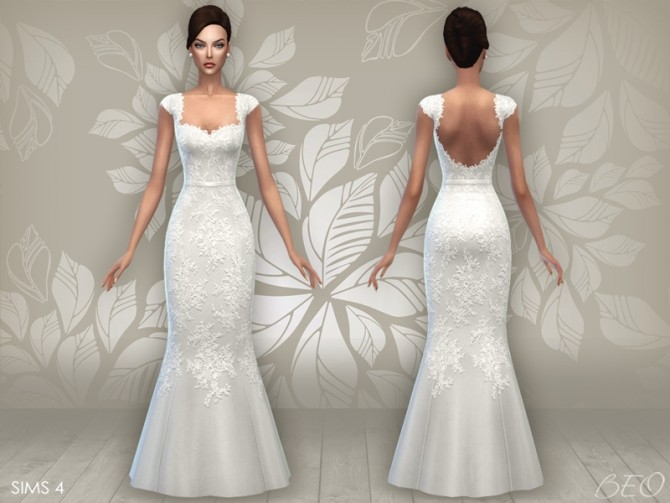 WEDDING DRESS 06 at BEO Creations » Sims 4 Updates