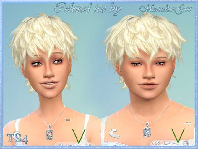 Colored ice necklaces and earrings at Maruska Geo image 12810 670x503 Sims 4 Updates
