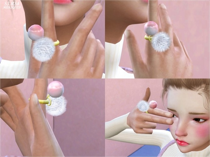 Pearl pompom ring at Marigold image 12812 670x503 Sims 4 Updates