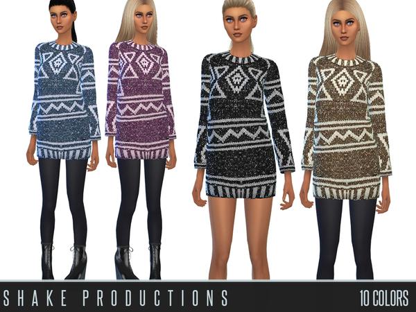 Sims 4 Wool Dress 47 by Shake Productions at TSR