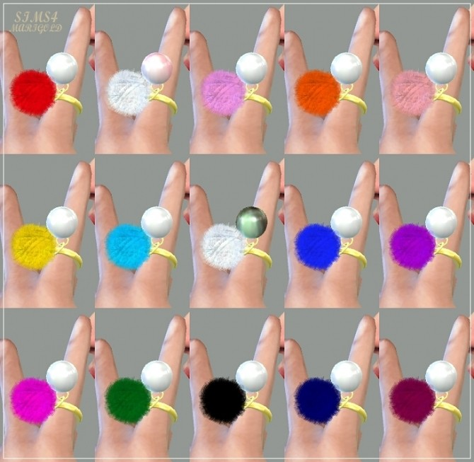 Pearl pompom ring at Marigold image 12911 670x653 Sims 4 Updates