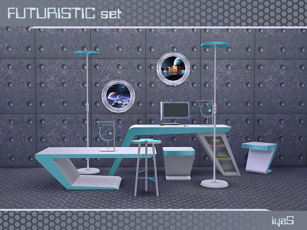 Futuristic set by soloriya at TSR image 13 Sims 4 Updates