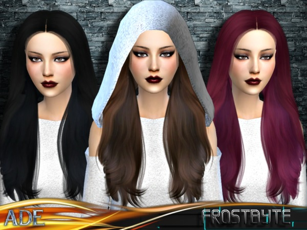 Frostbyte hair by Ade Darma at TSR image 13010 Sims 4 Updates